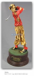 Golf Skelett Horrorfigur Figur Statue Deko Tot - Vorschau 4