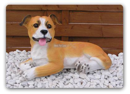Staffordshire Bullterrier Hund Figur Statue Deko