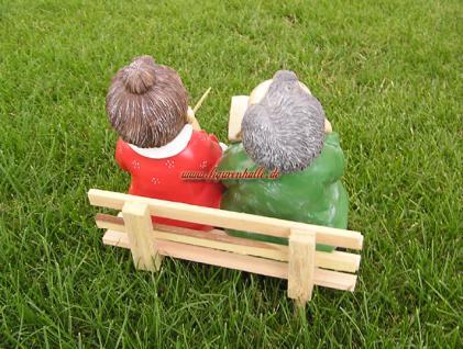 Oma und Opa mit Bank Dekofigur Figuren Statue - Vorschau 2