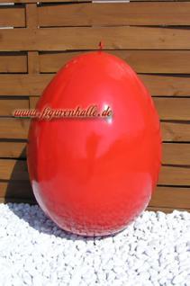 Riesen Osterei Werbefigur rot oder gelb oder Werbeaufsteller zur Ostern Dekoration in 4 Farben.