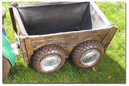 Maulwurf auf Trecker Traktor Gartenfigur Figur - Vorschau 3