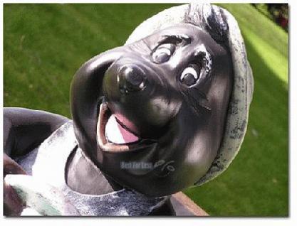 Maulwurf auf Trecker Traktor Gartenfigur Figur - Vorschau 4