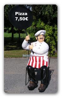 Pizza Bäcker Werbefigur Werbeaufsteller Figur Menü