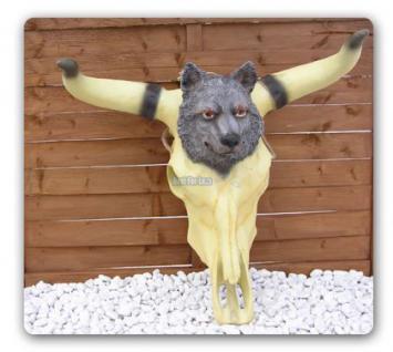 Longhorn Schädel Western Dekofigur Indianer Figur - Vorschau 1