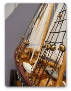Holz Segelschiff Schiffsmodell Modellschiff Deko - Vorschau 4