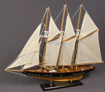 Holz Segelschiff Schiffsmodell Modellschiff Deko - Vorschau 1