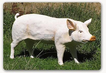 Schwein Lebensgroß Figur Statue Dekofigur Bauer - Vorschau 2