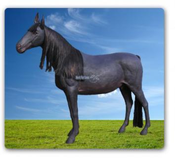 Pferd Werbefigur Schwarz Dekofigur Reiterhof - Vorschau 2