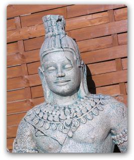 Angkor Figur Skulptur Statue fast lebensgroß Deko - Vorschau 2
