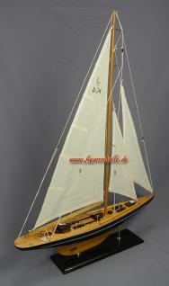 Segelschiff Yachtmodell Endeavour Modell aus Holz Standmodell - Vorschau 2