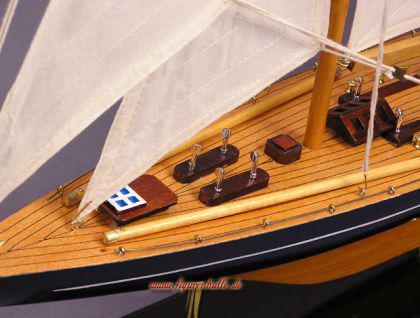 Segelschiff Yachtmodell Endeavour Modell aus Holz Standmodell - Vorschau 3