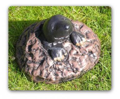 Maulwurf mit Hügel Figur Gartenfigur Dekofigur