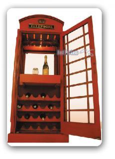 Englisch Britisch Telefonzelle Weinregal Vitrine - Vorschau 2
