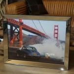 Foto Druck Porsche 356 Nostalgie Golden Gate Bridge von San Francisco Wandbild