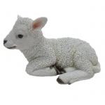 Lamm Schaf liegend Schäfchen Dekofigur o. Gartenfigur