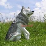 Wolf Country Western Dekofigur Statue