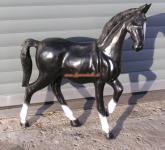 Black Pferd Figur Statue Werbefigur für Pferdegeschäft