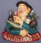 Französischer Wein Werbeschild Nostalgie Antik Werbung Weine