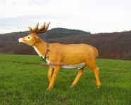 Hirsch Schlitten Rentier Figur mit Glocken Dekoration Deko