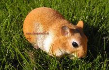 beige weiß Hamster Tierfigur Figur Statue