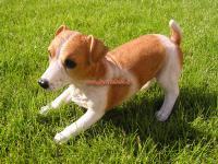 Jack Russell Terrier Figur als Fan Artikel lebensecht