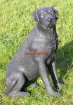 Labrador Figur schwarz lebensecht Deko Fan Artikel