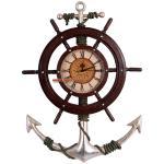 Maritime Wanduhr Anker Antik Deko Piraten Uhr
