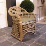 Korbsessel Rattan Stuhl im Landhausstil Maritimen Möbel