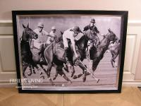 Großes Polosport Wandbild mit Pferden uns Spieler als Deko