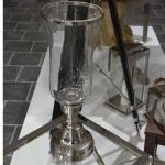 Klassisches Antik Nostalgie Windlicht mit Chrom