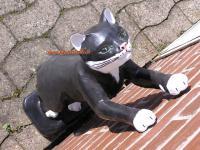 Katze in schwarz Kletternd Figur Statue