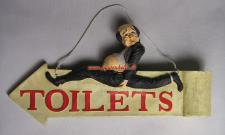 Gastro Toiletten Schild Antik Deko