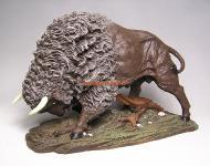 Büffel Figur Statue Skulptur Western Dekoration USA