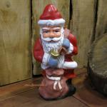 Weihnachtsmann Santa Claus Figur mit Sack und Glocke