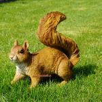 Eichhörnchen Figur Statue Skulptur Deko Wald