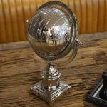 Erdkugel Globus Chrom Aluminium Super Bowl Fan Deko