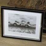 Wandbild Fotodruck Mercedes Benz Schwarz weiß 1955 Oldtimer Racing