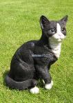 Katze in schwarz weiß als Dekofigur
