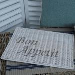 Bon Appetit weiß Tischset Set Rattanset Rattan Korb Impressionen