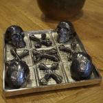 Tic Tac Toe Aluminium Metall Dekoration Luxus Spiel