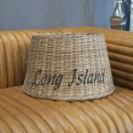 Rattan Lampenschirm rund Stehleuchte Shabby Chic Maison Style