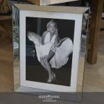 Marilyn Monroe Wandbild Spiegelrahmen Legende Rockenroll Wandbild