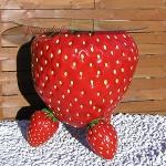 Erdbeere Werbefigur Tisch Werbung Dekoration Obst