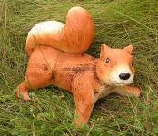 Eichhorn Eichhörnchen Figur Statue Skulptur Gartenfigur