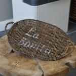 Untersetzer Tablett Rattan oval Platzteller Platzset Maison Style Shabby Chic