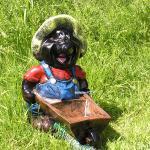 Maulwurf Schubkarre Gartenfigur Dekofigur Figur Garten Deko
