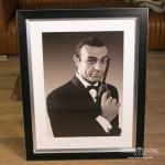 James Bond 007 Jagd Dr. No 1962 Poster in Rahmen Kunstdruck
