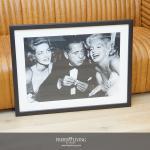 Lauren Bacall, Humphrey Bogard und Marilyn Monroe Wandbild Fotografie