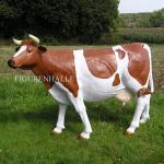 Kuh Lebensgroß Dekofigur Statue Braun Figur