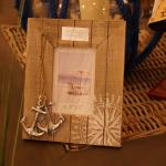 Tisch Bilderrahmen mit Metalldeko Deko Maritim